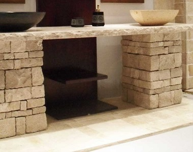Ivory Travertine Loose Wall Cladding Stone, biege tiles, cream tiles cladding by stone pavers melbourne