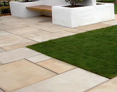 Outdoor Sandstone Tiles with a honed finish by stone pavers melbourne, sydney, brisbane, canberra