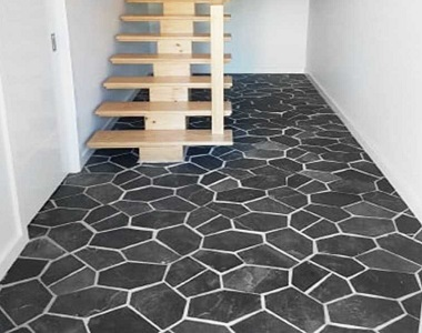 ebony on mesh crazy paving tiles and pavers, outdoor tiles, outdoor pavers, dark tiles, black tiles by stone pavers melbourne, national tiles, bunnings