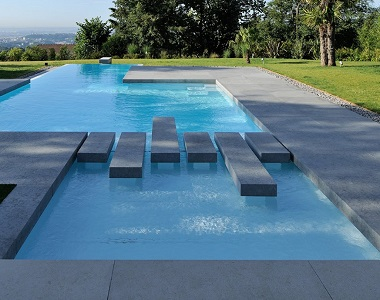 new raven grey granite pool coping drop face tiles and pavers, grey coping, dark coping tiles by stone pavers australia