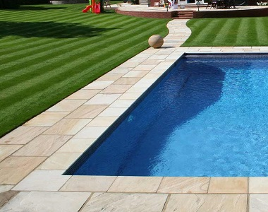 quartz sandstone pavers and tiles, outdoor pavers, pool coping, light tiles, yellow tiles by stone pavers melbourne, sydney