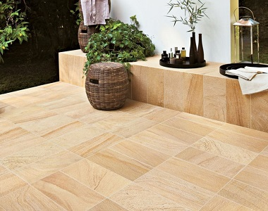 teakwood sandstone pavers and tiles, yellow tiles, ochre tiles, pool pavers and pool coping melbourne, sydney, brisbane, canberra adelaide, outdoor pavers, outdoor tiles
