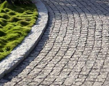 White cobblestones