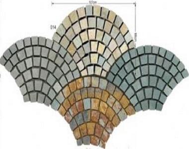 fan shape cobblestones