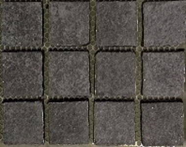 midnight exfoliated black tiles and pavers