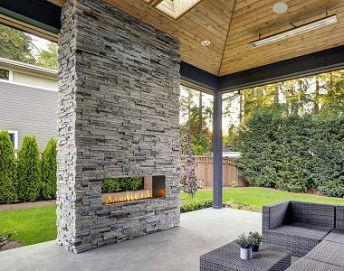 smokey quartz stackstone wall cladding tiles by stone pavers melbourne, fireplace stone cladding