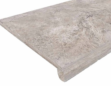 Silver Oyster Drop Face Pool Coping Tiles, Beige Pool Coping, Beige Tiles, Stone Pavers Australia