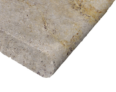 antique travertine bullnose pool coping tiles, biege pool coping tiles, round edge pool coping pavers by stone pavers australia