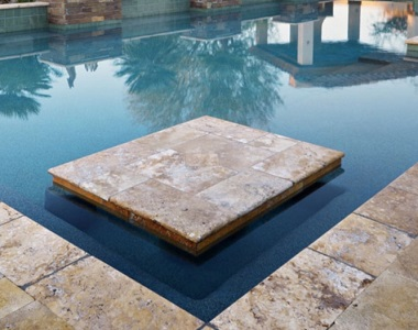 antique travertine bullnose pool coping tiles, biege pool coping tiles, round edge pool coping pavers by stone pavers sydney