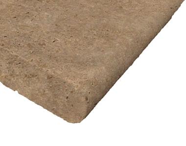 noce travertine bullnose pool coping tiles, brown tiles, beige tiles, cream tiles, round edge pool tiles, stone pavers australia