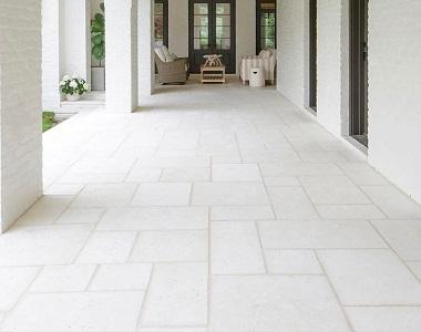 white-travertine-tiles-melbourne-french-pattern-pavers-tiling