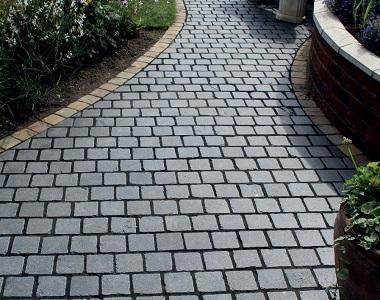 grey slate cobblestone driveway tiles and pavers