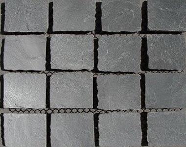 grey slate cobblestone tiles