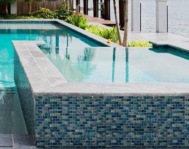 smokey quartz granite bullnose pool coping tiles and pavers, pool pavers, round edge coping tile