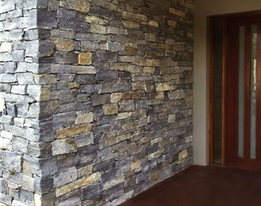 ebony loose wall cladding stone tiles, water feature wall stone tiles, natural stone fireplace wall tiles by stone pavers melbourne-