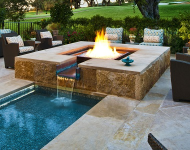 Antique Tumbled Travertine Coping Tiles, beige pool coping pavers, cream tiles, stone pavers melbourne and sydney