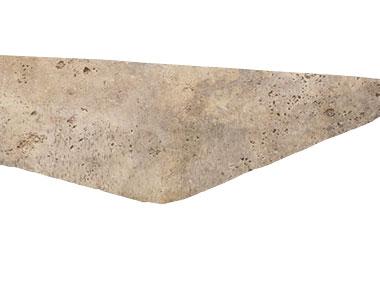 Antique Tumbled Travertine Coping Tiles, beige pool coping tiles, cream tiles by stone pavers australia