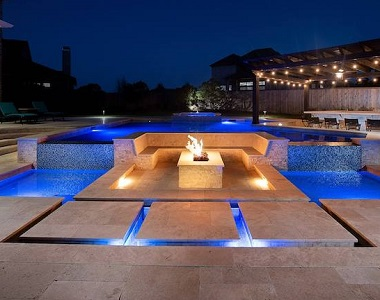 Ivory Travertine Drop Face Pool Coping Tiles and Pavers, beige tiles, cream tiles, stone pavers australia