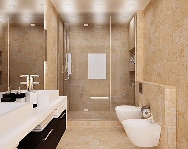 Ivory Travertine Tiles Indoor Filled and Honed by stone pavers, indoor bathroom tiles