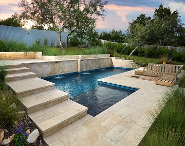 Ivory Travertine pavers or tiles By Stone Pavers