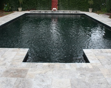 Silver Oyster Travertine Pool Coping Tumbled tiles, silver pavers, silver coping tiles, silver pool pavers by stone pavers sydney