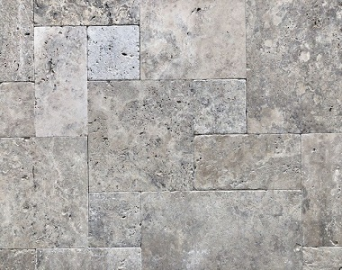 Silver Travertine Tiles french pattern tiles Standard Grade