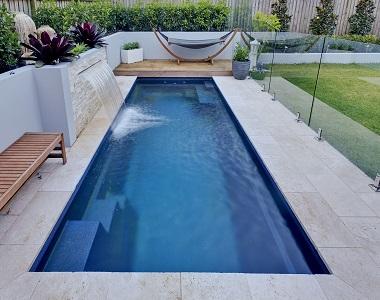 ivory travertine pool coping tumbled pavers, cream tiles, biege pavers, stone pavers australia