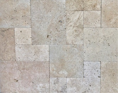 rustica travertine french pattern tiles