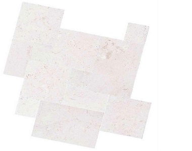 shell white french pattern tiles and pavers, white tiles, stone pavers