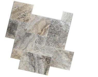 silver oyster french pattern travertine, stone pavers melbourne, sydney, brisbane, adelaide, canberra