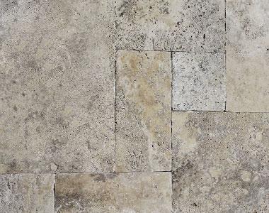 silver oyster french pattern travertine tiles, beige tiles, silver tiles, stone pavers australia