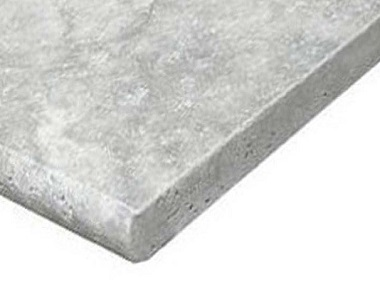 silver travertine bullnose pool coping, silver pool coping tiles, round edge pool coping, stone pavers australia