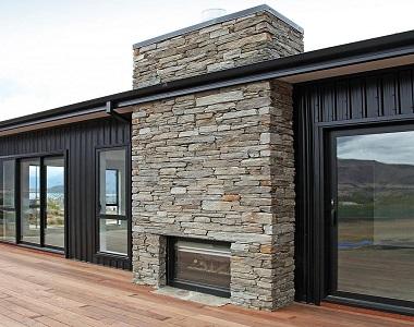 ebony ledgestone stone wall cladding