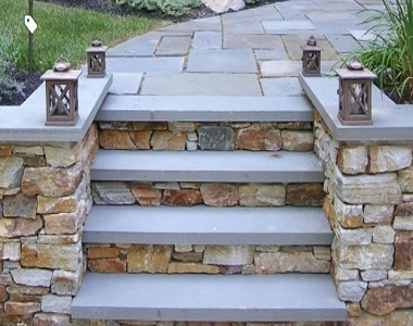 ulluru ledgestone, stone steps wall cladding